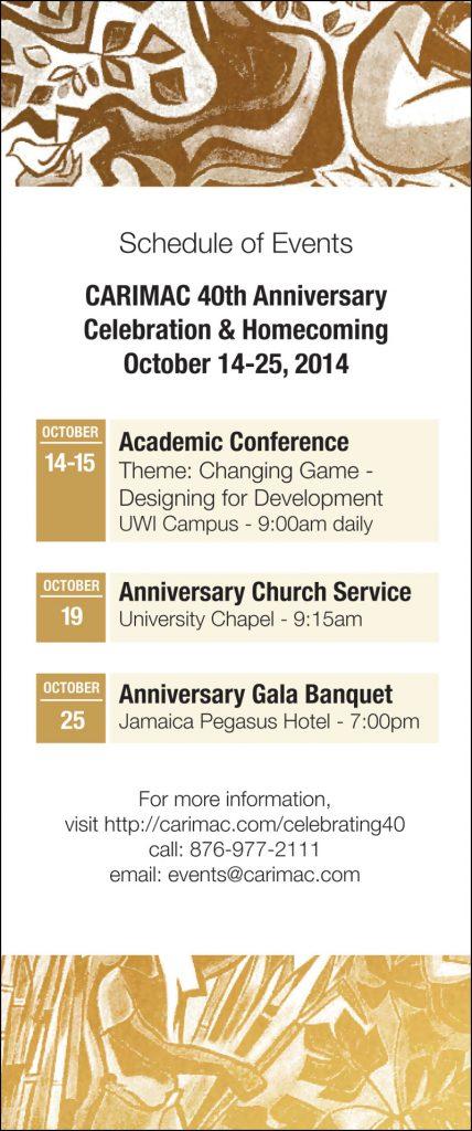 CARIMAC Events Brochure