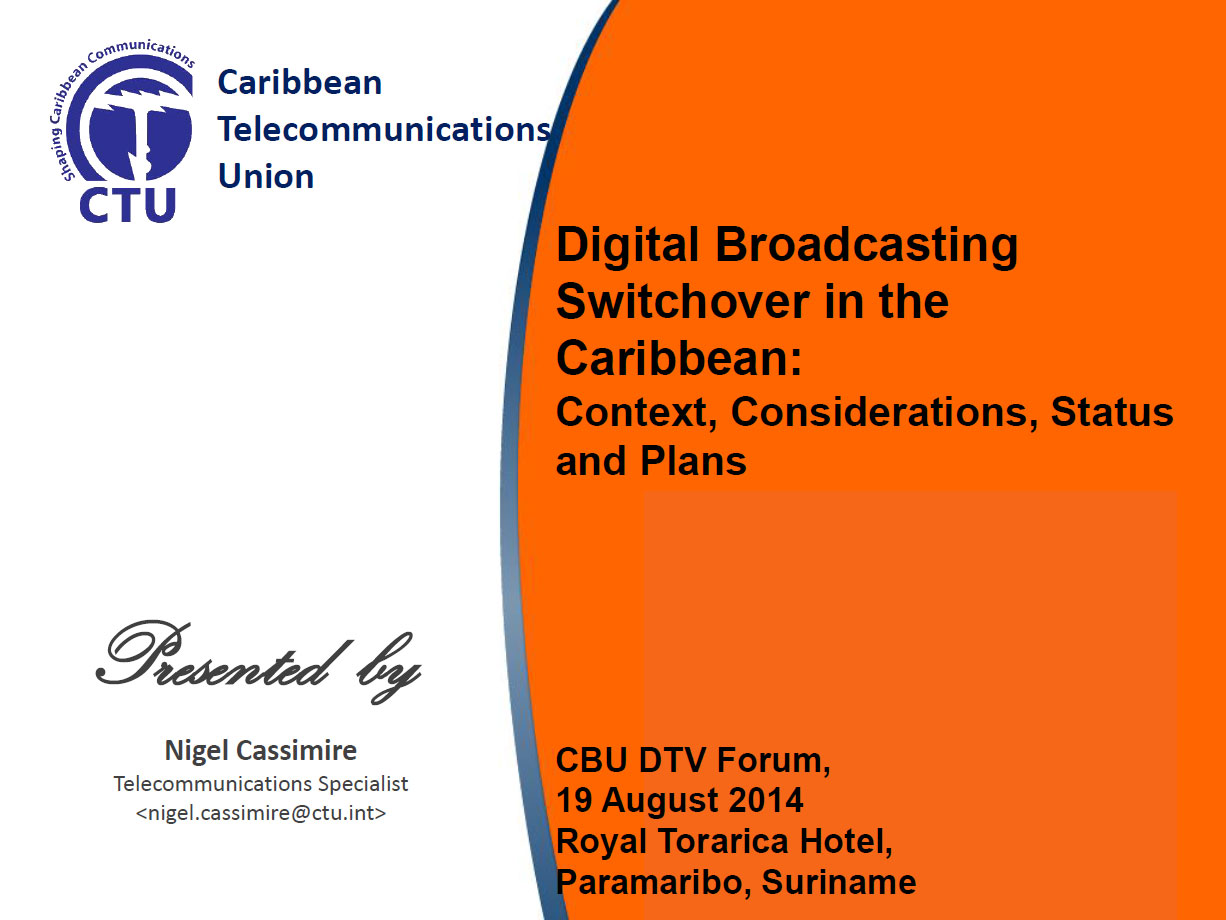 Digital Transition Status in the Caribbean by Nigel Cassimire