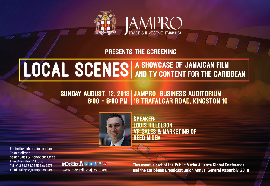 SPECIAL INVITATION TO CBU & PMA MEMBERS: JAMPRO Showcase of Jamaican Content